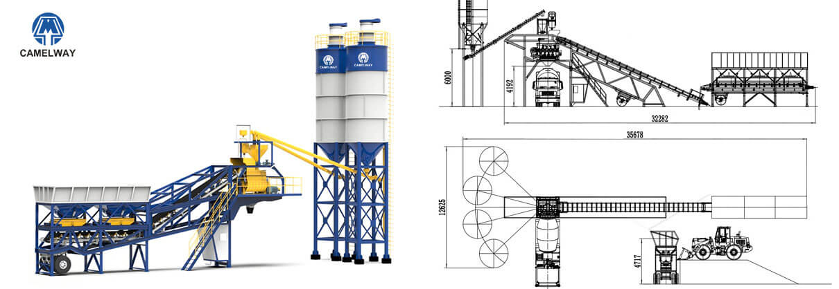 Camelway mobile concrete batching plants drawing