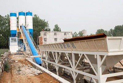 HZS90 Commercial Concrete Batching Plant For Sale Kazakhstan