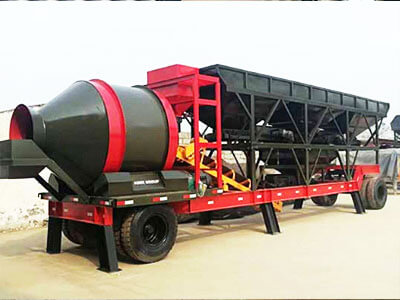 JZC mobile concrete batching plant