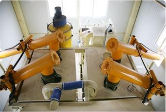 Top structure of mixing plant