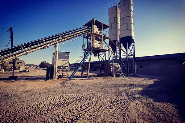 1m³Concrete batching Plant was Installed in Uzbekistan