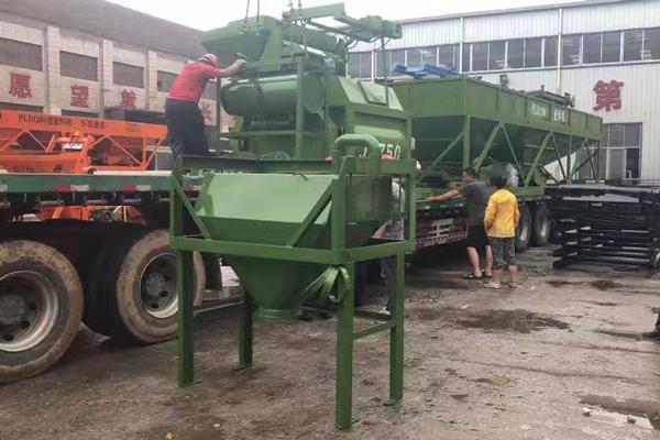 concrete  mixing plant will send to uzbekistan