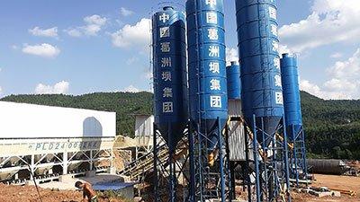 Double HZS90 Concrete Batch Plants in Sichuan, China