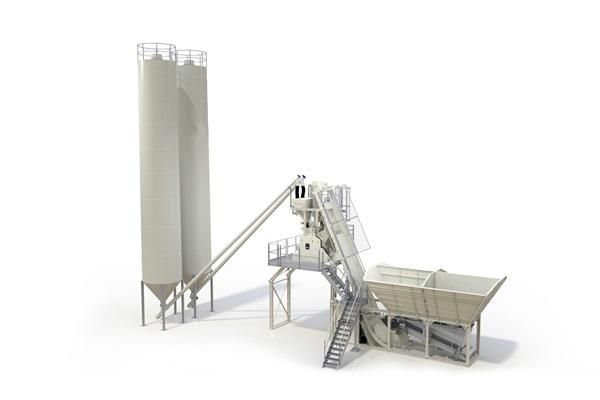 Foundation free Concrete Batching Plant
