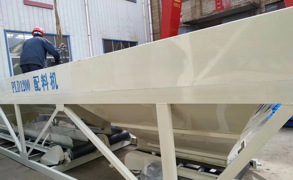 hzs25 concrete plant deliveries in factory