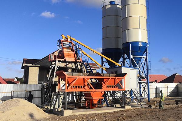 hzs25 concrete batching plant for sale Tanzania