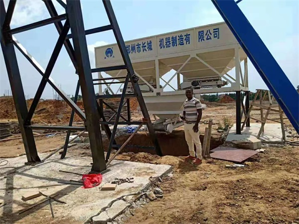 HZS50 Concrete Batching Palnt For Sale Ghana