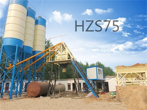 HZS75 concrete batching plant configuration list1