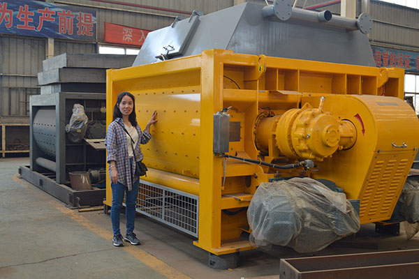 JS2000 Concrete Mixer, 2m³ Twin Shaft Mixer - Camelway Machinery