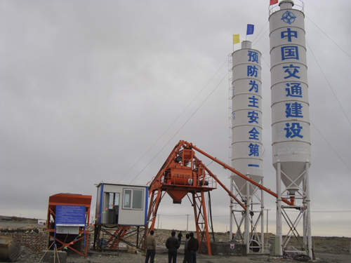twin shaft mixer concrete plant