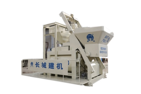 Twin Shaft Mixer with Skip Hoists